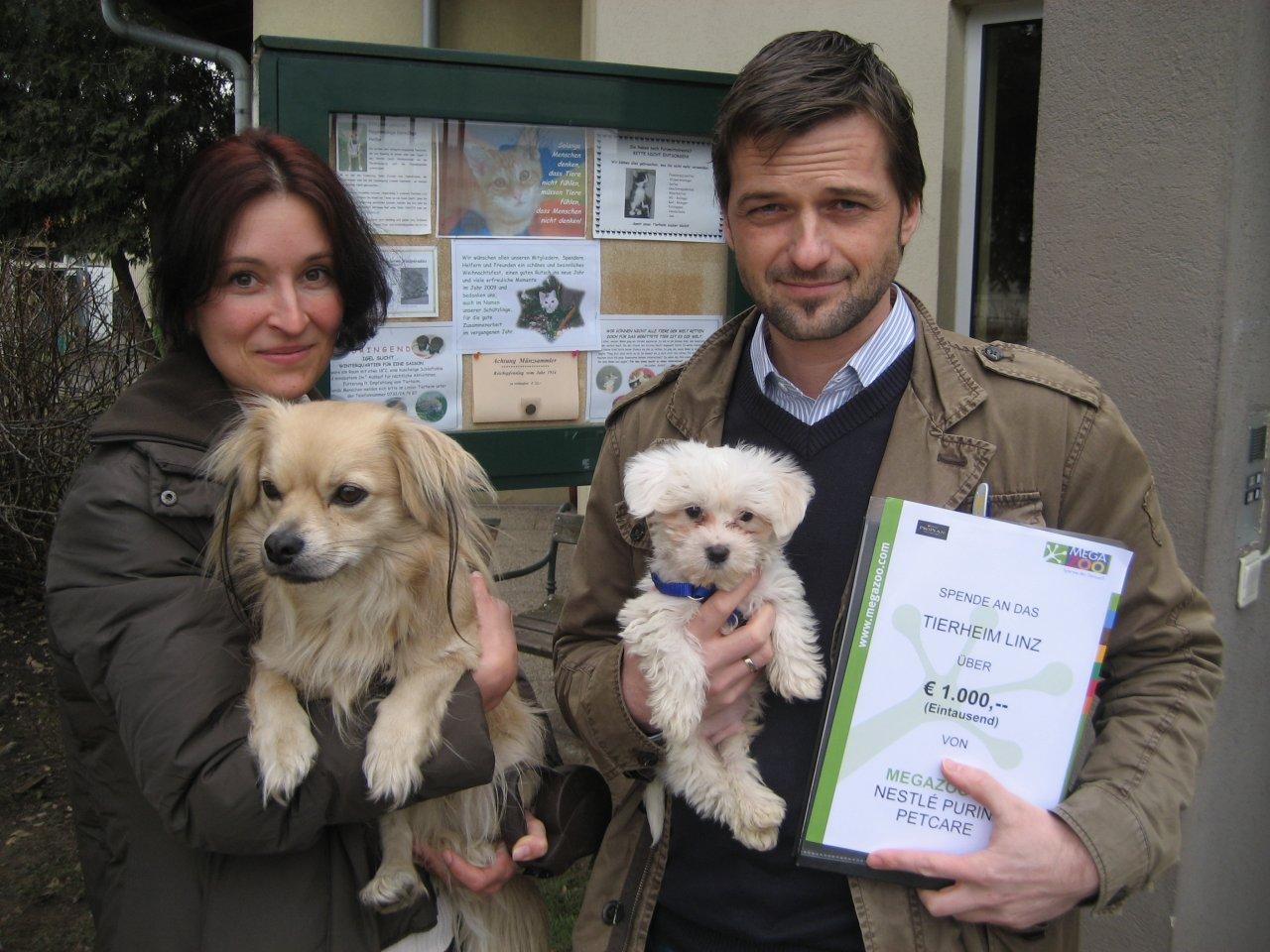 Megazoo österreich Und Nestle Purina Pet Care Spenden 10000 Euro